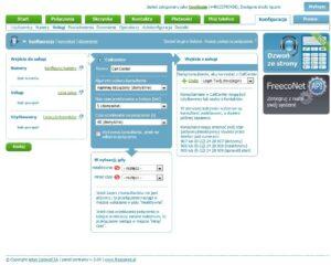 Ekran konfiguracji usługi Call Center