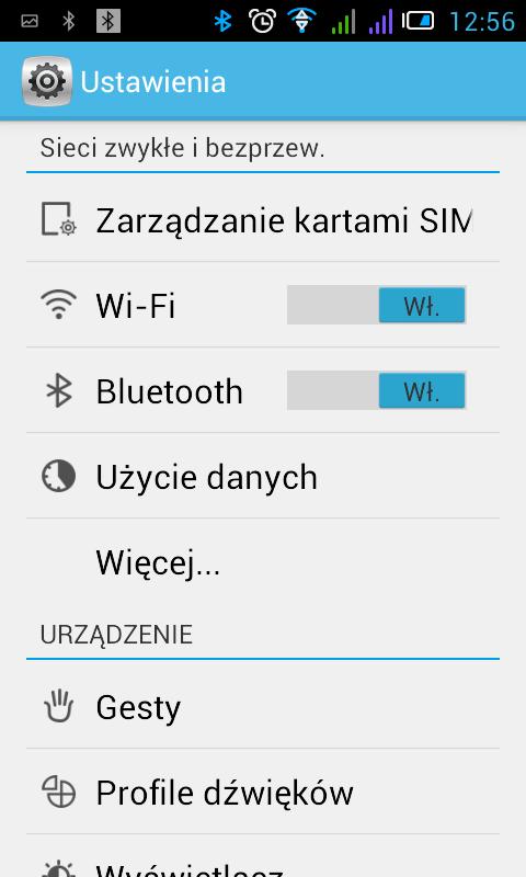 Android ustawienia ekran główny, generyczny