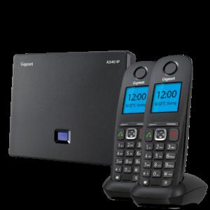 Gigaset 540IP zestaw stacja DECT i dwie bezprzewodowe słuchawki telefon VoIP