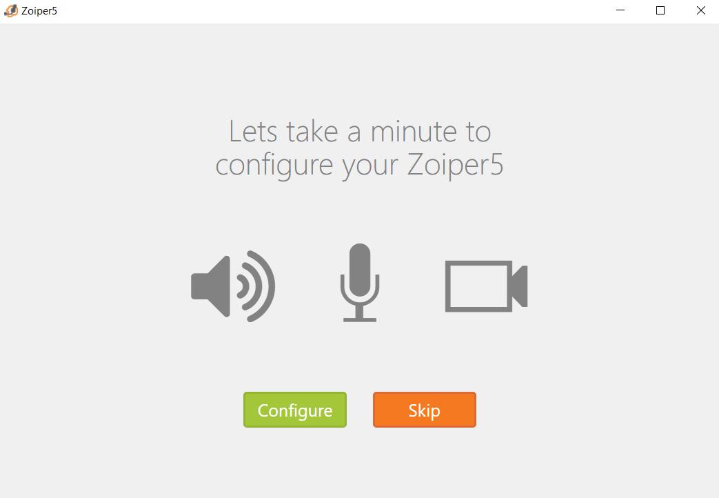 Konfiguracja ZoIPer: autodetekcja sprzętu. Można pominąć.