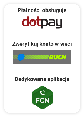 FCN: płatności obsługuje DotPay, konto zweryfikujesz wsieci kiosków Ruch, dedykowana aplikacja totelefon FCN